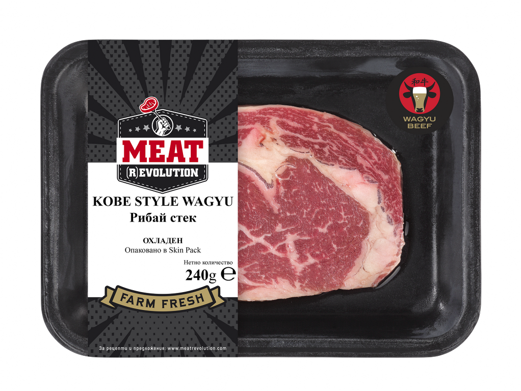 Kobe Style Wagyu Рибай Стек